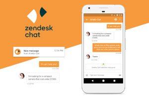 Zendesk chat mobile app
