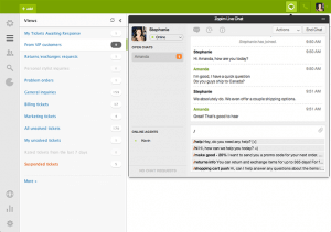 Zendesk chat