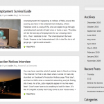 Integrated Blog Section