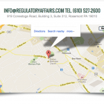 The contact us form's map and contact information