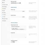 Customized Theme Settings Panel
