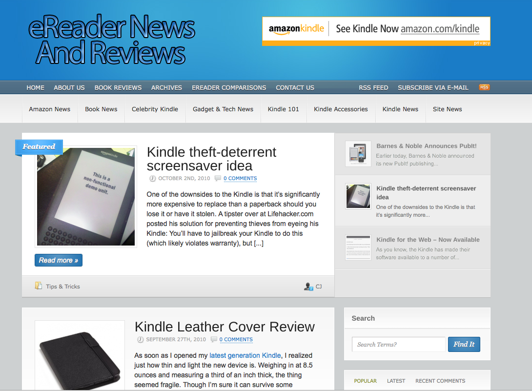 View details for eReader News and Reviews