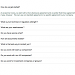 An FAQ section that expands and contracts.